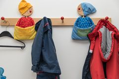 Wardrobe for children - close-up royalty free stock photo