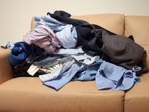 Wardrobe Cleanout Royalty Free Stock Image