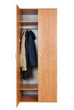 Wardrobe with clothes Royalty Free Stock Photography