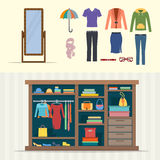 Wardrobe for clothes. Stock Photos