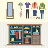 Wardrobe for clothes. Stock Photos