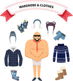 Wardrobe and Clothes Royalty Free Stock Photo