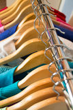 Wardrobe with clothes Royalty Free Stock Photo