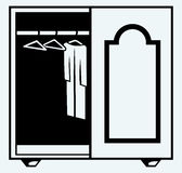 Wardrobe with clothes Stock Photo