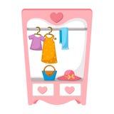 Wardrobe for cloths Stock Photo