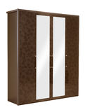 Wardrobe de madeira isolado Imagens de Stock