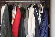 Wardrobe Full Of Clothes Stock Photo