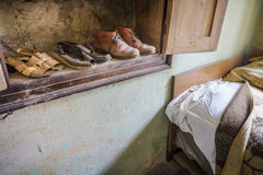 Wardrobe. Full of old shoes Stock Image