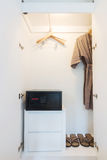 Wardrobe in hotel Stock Photography