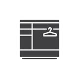 Wardrobe icon vector, filled flat sign, solid pictogram isolated on white. Royalty Free Stock Photo