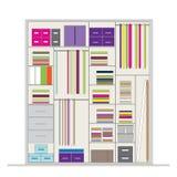 Wardrobe inside, illustration for your design Stock Images