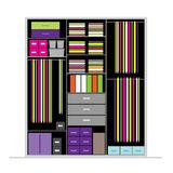 Wardrobe inside, illustration for your design Royalty Free Stock Photos