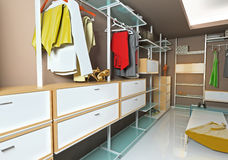 Wardrobe interior Royalty Free Stock Images