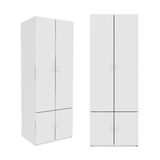 Wardrobe Isolated on White Background, 3D rendering. Illustration Stock Photos