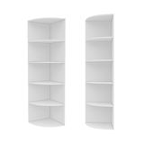 Wardrobe Isolated on White Background, 3D rendering Stock Images