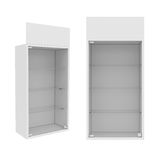 Wardrobe Isolated on White Background, 3D rendering Royalty Free Stock Photos