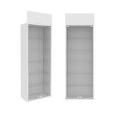 Wardrobe Isolated on White Background, 3D rendering Stock Photo