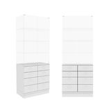 Wardrobe Isolated on White Background, 3D rendering Stock Photos