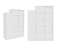 Wardrobe Isolated on White Background, 3D rendering Stock Photography