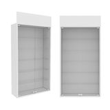 Wardrobe Isolated on White Background, 3D rendering Stock Image