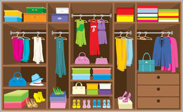 Wardrobe room. Furniture. Royalty Free Stock Photography