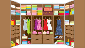 Wardrobe room. Furniture Stock Images