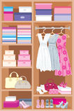 Wardrobe room. Furniture Royalty Free Stock Images