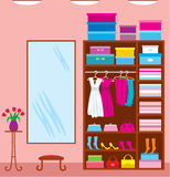 Wardrobe room. Furniture Royalty Free Stock Photos