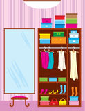 Wardrobe room. Furniture Stock Photography