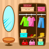 Wardrobe room. Furniture. Stock Image