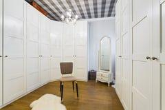 Wardrobe room. Luxury Wardrobe Room - Interior Design Royalty Free Stock Photo