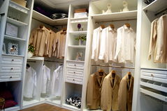 Wardrobe sample exhibition, in shenzhen, China. New wardrobe, bring convenience and comfortable life stock photos
