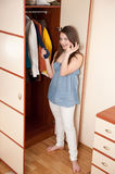 Wardrobe scene Royalty Free Stock Images