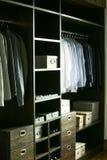 Wardrobe shelf wall stock images