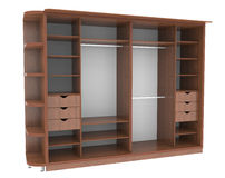 Wardrobe with shelves Royalty Free Stock Photo