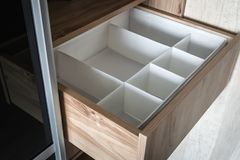 Wardrobe with sliding doors and drawers drawer Royalty Free Stock Images