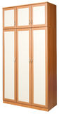 Wardrobe with three sections stock photography