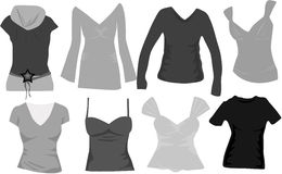 Wardrobe women icons vector Royalty Free Stock Image
