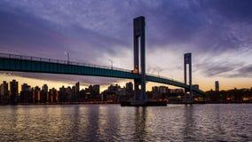 Wards Island Bridge stock footage