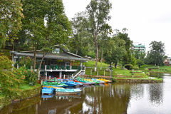 Wards Lake, Shillong. Wards Lake is among most popular tourist locations of the hill station. It is an artificial lake that is enveloped within a widespread Royalty Free Stock Photo