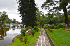 Wards Lake, Shillong. Wards Lake is among most popular tourist locations of the hill station. It is an artificial lake that is enveloped within a widespread Royalty Free Stock Photos