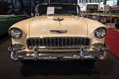 Ware grootteauto Chevrolet Bel Air Convertible, 1955 Royalty-vrije Stock Afbeeldingen