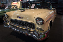 Ware grootteauto Chevrolet Bel Air Convertible, 1955 Stock Foto's