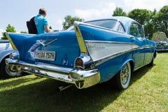 Ware grootteauto Chevrolet Bel Air Sedan Royalty-vrije Stock Afbeeldingen