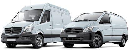 Ware groottebestelwagen en lichte bestelwagen Stock Foto