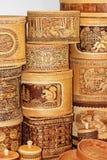 Ware handmade from birch bark Royalty Free Stock Photos