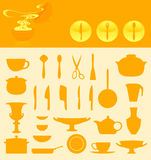 Ware icons. Set of icons of ware. A  illustration Royalty Free Stock Photos