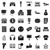 Ware icons set, simple style. Ware icons set. Simple set of 36 ware vector icons for web isolated on white background Royalty Free Stock Photos