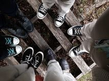 Ware Vrienden stock fotografie