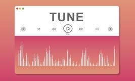 Wareform Program Melody Music Concept Stock Photos